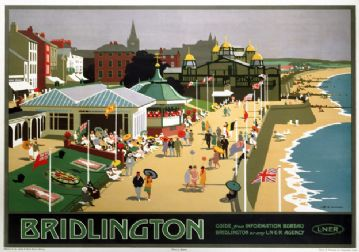 Bridlington, Yorkshire. Vintage LNER Travel poster by Henry George Gawthorn.